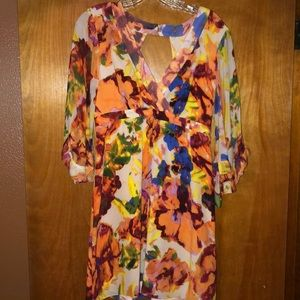 Anthropologie 100% silk dress